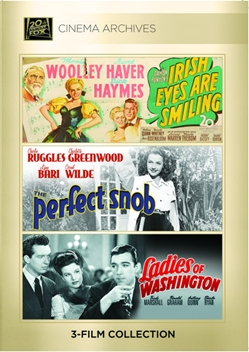 (Anthony Quinn Set) Irish Eyes Are Smiling 1944; The Perfect Snob 1941; Ladies Of Washington 1944