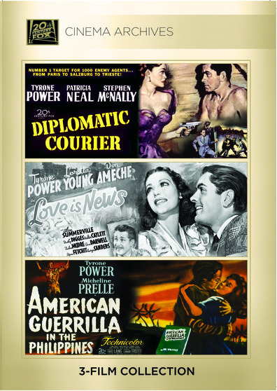 (Tyrone Power Set) Diplomatic Courier 1952; Love Is News 1937; American Guerilla In The Philippines 1950