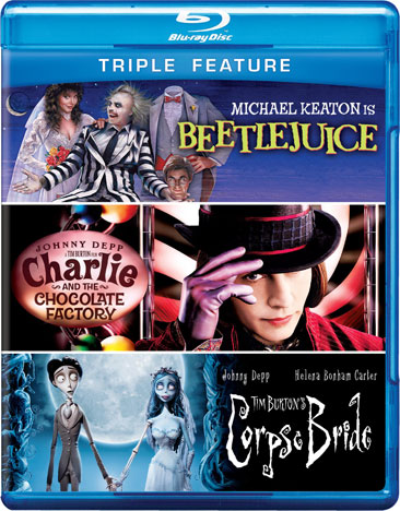 Beetlejuice / Charlie and the Chocolate Factory / Tim Burton's Corpse Bride 883929251216