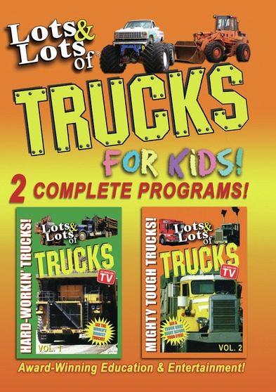 Lots & Lots of Trucks for Kids – 2 Complete Programs!