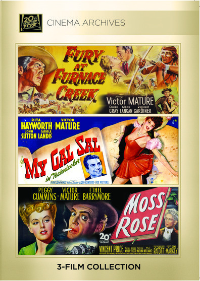 (Victor Mature Set) Fury at Furnace Creek 1948; My Gal Sal 1942; Moss Rose 1947