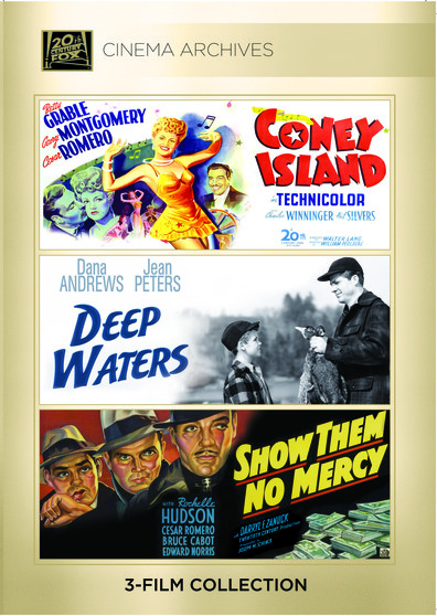 (Cesar Romero Set) Coney Island 1943; Deep Waters 1948; Show Them No Mercy! 1935
