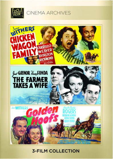 (Jane Withers Set) Chicken-Wagon Family 1939; Farmer Takes A Wife 1935; Golden Hoofs 1941
