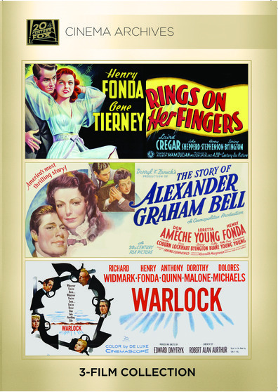 (Henry Fonda Set) Rings On Her Fingers 1942; The Story Of Alexander Graham Bell 1939; Warlock 195